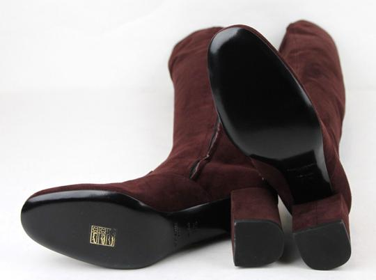 Saint Laurent Suede Bb 70 Over-the-knee Burgundy Boots Image 7