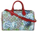 Gucci Beige/Blue Gg Coated Canvas Bloom 409527 8492 Satchel in Beige/Blue Image 0