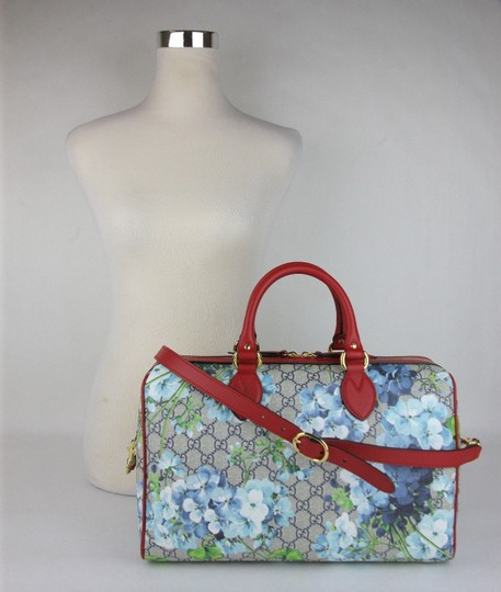 Gucci Beige/Blue Gg Coated Canvas Bloom 409527 8492 Satchel in Beige/Blue Image 5