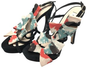 L.K. Bennett Bow Strappy Heels Made In Spain Pumps