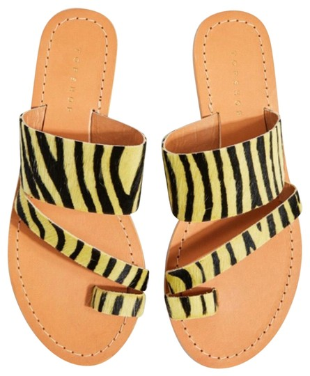 Preload https://img-static.tradesy.com/item/26230346/topshop-yellow-leather-animal-flat-sandals-size-us-95-regular-m-b-0-1-540-540.jpg