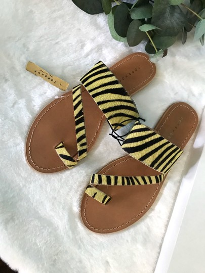 Topshop yellow Sandals Image 3