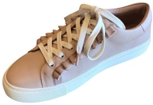 Tory Sport by Tory Burch Ruffle Sneaker Leather Shell Pink Athletic
