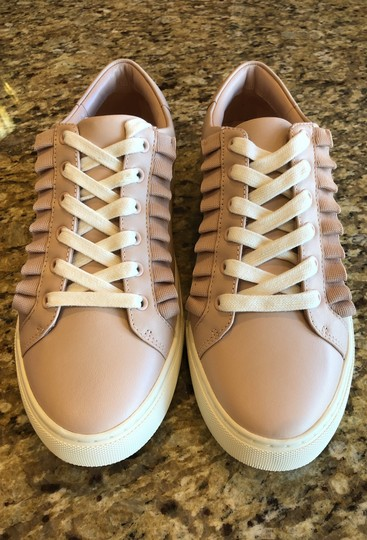 Tory Sport by Tory Burch Ruffle Sneaker Leather Shell Pink Athletic Image 1