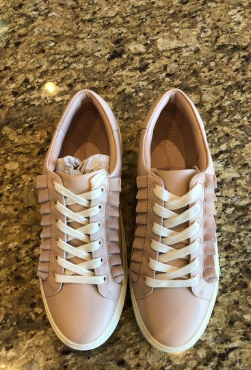 Tory Sport by Tory Burch Ruffle Sneaker Leather Shell Pink Athletic Image 2