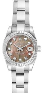 Rolex Rolex Datejust Steel White Gold Tahitian MOP Diamond Ladies Watch 1791