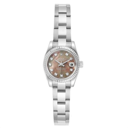 Rolex Rolex Datejust Steel White Gold Tahitian MOP Diamond Ladies Watch 1791 Image 1