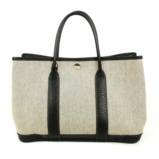 Preload https://img-static.tradesy.com/item/26230629/hermes-garden-party-bag-30-canvas-black-white-grey-leather-tote-0-0-540-540.jpg