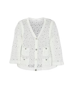 Chanel Buttons Coats Silvertone Buttons White Jacket