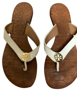 Tory Burch ivory leather Sandals