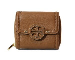 Tory Burch NEW Tory Burch Amanda French Leather Wallet, Brown