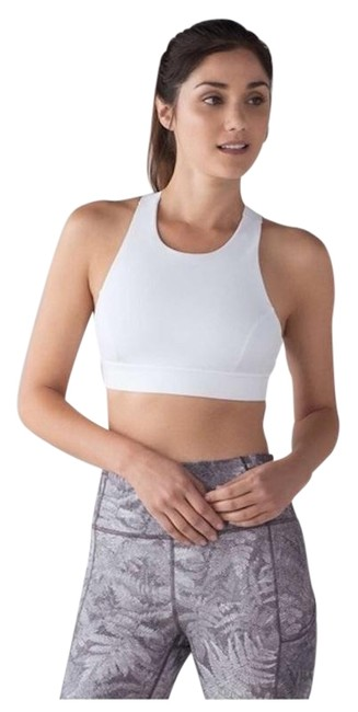 Item - White Fast & Free High Neck T Back Activewear Sports Bra Size 2 (XS, 26)