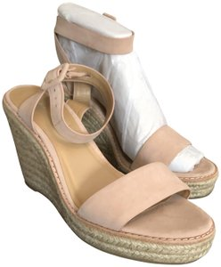 Banana Republic Light Pink Suede Leather Wedges