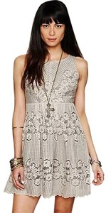 Free People Rocco Lace Fit & Flare Stone Nwot Dress