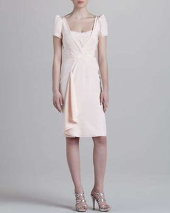 Zac Posen Ruffle Fitted Dress