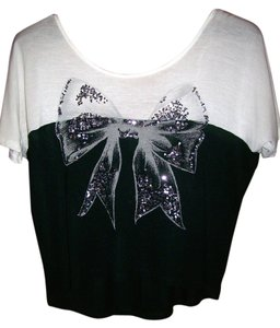 dELiA*s Bow Top Black & White
