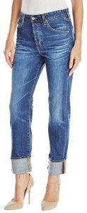 AG Adriano Goldschmied Tomboy Distressed Sloan Boyfriend Cut Jeans-Distressed