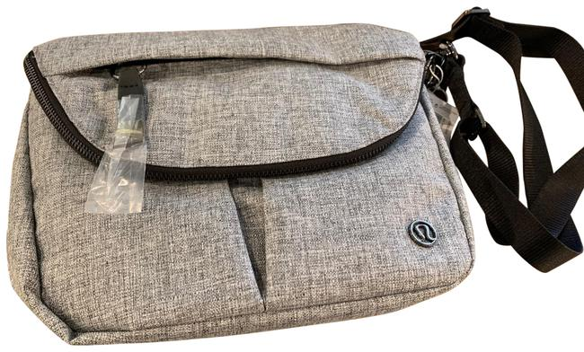 Item - All Night Festival Heathered Grey with Black Fabric Water Repellent Cross Body Bag
