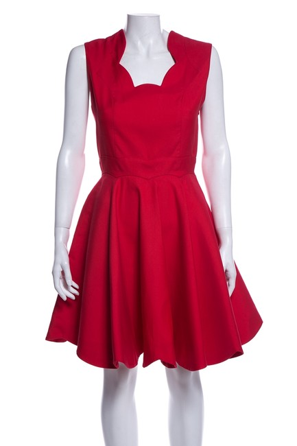 Preload https://img-static.tradesy.com/item/26232652/dior-red-christian-scalloped-short-cocktail-dress-size-4-s-0-0-650-650.jpg