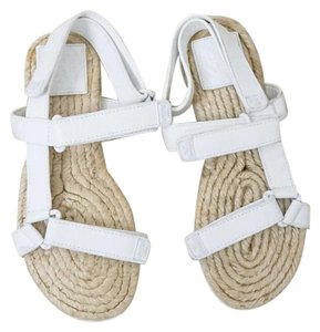 Tory Burch Espadrille Chunky White Sandals