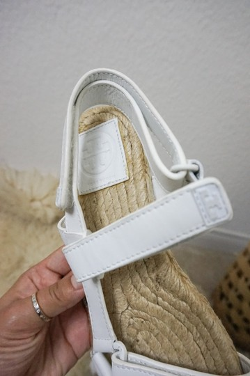 Tory Burch Espadrille Chunky White Sandals Image 1