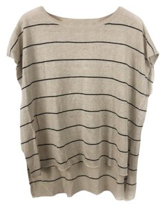 Eileen Fisher Organic Striped Vented Knit Linen Sweater