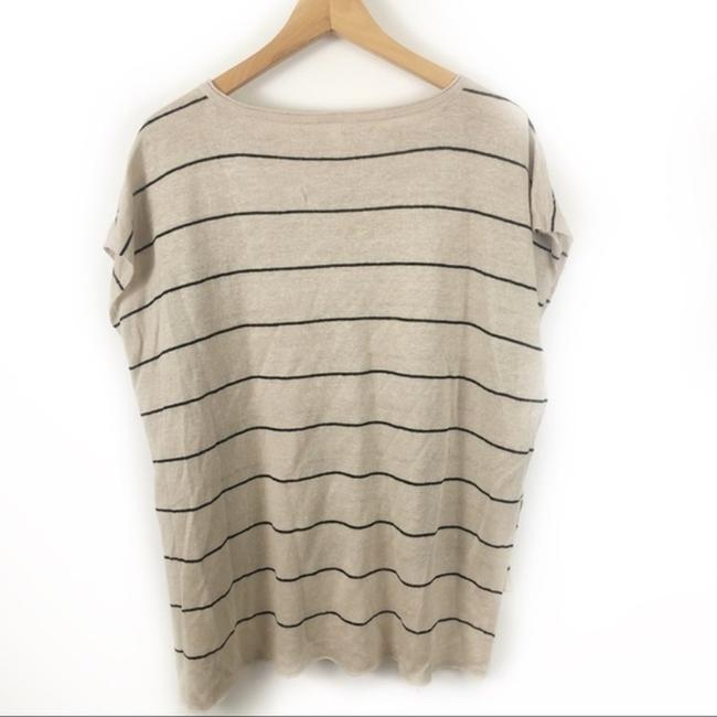 Eileen Fisher Organic Striped Vented Knit Linen Sweater Image 1
