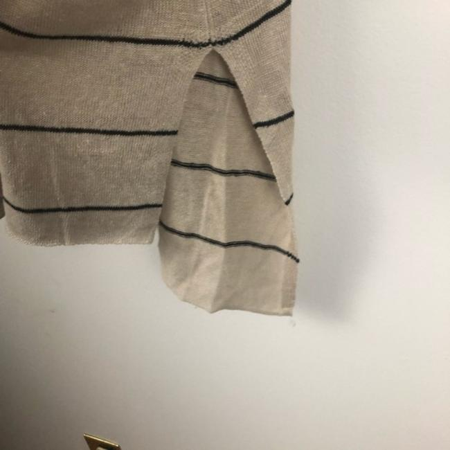 Eileen Fisher Organic Striped Vented Knit Linen Sweater Image 3