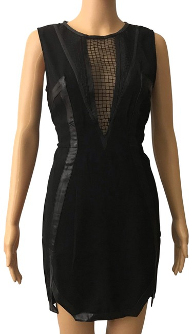 Preload https://img-static.tradesy.com/item/26232729/english-rose-black-faux-leather-trim-net-neckline-night-out-dress-size-12-l-0-1-650-650.jpg