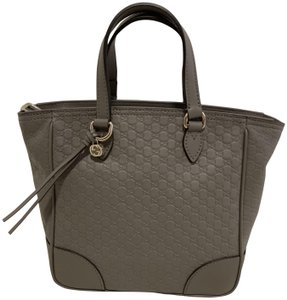 Gucci Guccissima Crossbody Monogram Shopping Tote in Grey