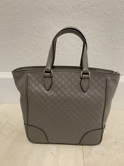 Gucci Guccissima Crossbody Monogram Shopping Tote in Grey Image 1