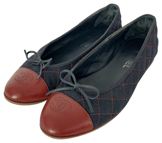 Item - Navy Blue with Burgundy. Flats Size EU 40 (Approx. US 10) Narrow (Aa, N)