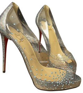 Christian Louboutin version silver Platforms