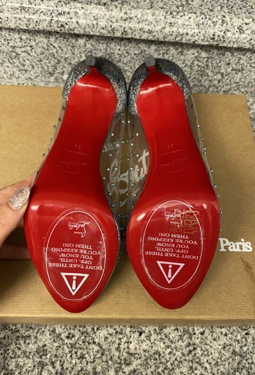 Christian Louboutin version silver Platforms Image 4