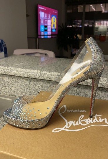 Christian Louboutin version silver Platforms Image 6