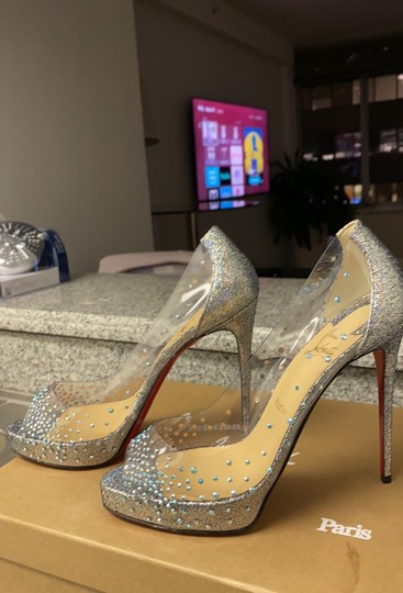 Christian Louboutin version silver Platforms Image 7