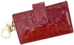 Dior BRAND NEW Lady Dior Card Holder with 5 pockets in Red Patent Leather