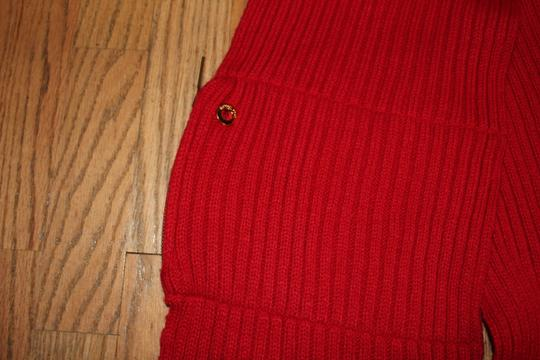 Michael Kors MICHAEL KORS RED SCARF SHAWL MUFFLER WITH ZIPPERED POCKET RED Image 1