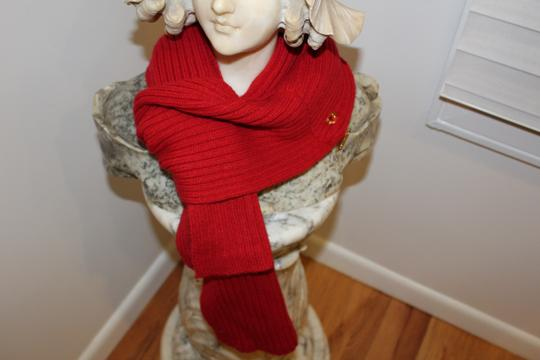 Michael Kors MICHAEL KORS RED SCARF SHAWL MUFFLER WITH ZIPPERED POCKET RED Image 3