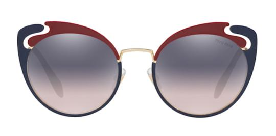 Miu Miu New Cat Eye With Case SMU 57t hb5gr0 Free 3 Day Shipping Image 1