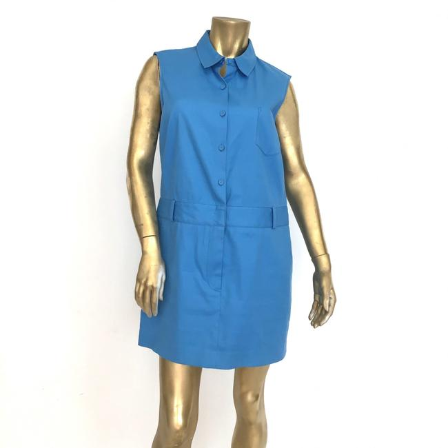 Preload https://img-static.tradesy.com/item/26232872/31-phillip-lim-blue-cottonpoly-buttoncollar-short-workoffice-dress-size-10-m-0-0-650-650.jpg