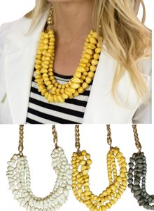 Other Mustard Yellow Strand Necklace