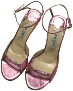 Jimmy Choo Date Night Out Metallic Pink Sandals
