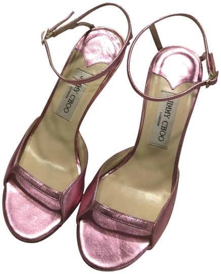 Preload https://img-static.tradesy.com/item/26232904/jimmy-choo-metallic-pink-sandals-size-eu-395-approx-us-95-regular-m-b-0-1-540-540.jpg