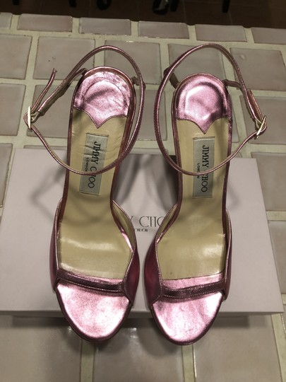 Jimmy Choo Date Night Out Metallic Pink Sandals Image 1