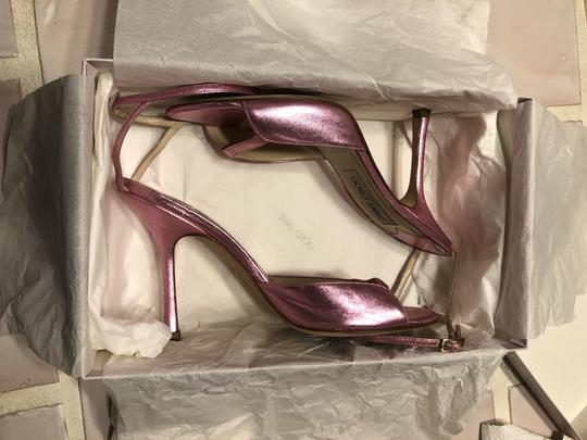 Jimmy Choo Date Night Out Metallic Pink Sandals Image 10