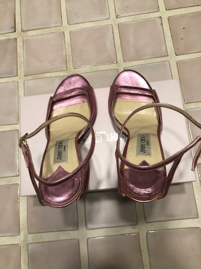Jimmy Choo Date Night Out Metallic Pink Sandals Image 3