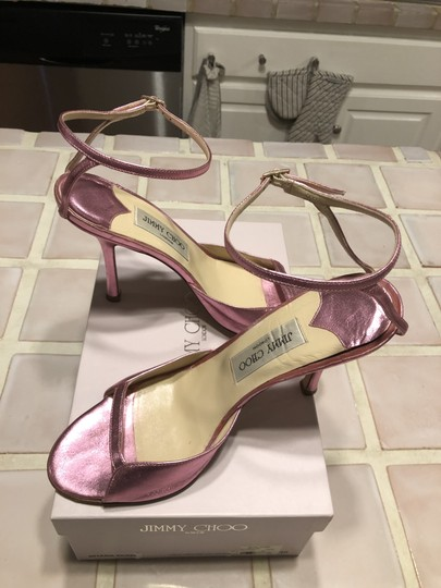 Jimmy Choo Date Night Out Metallic Pink Sandals Image 5