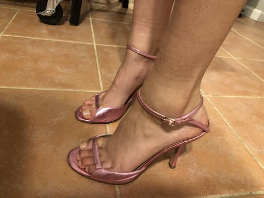 Jimmy Choo Date Night Out Metallic Pink Sandals Image 7