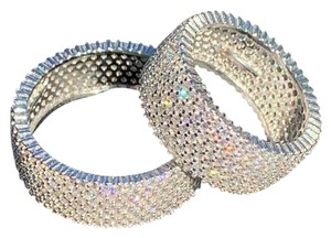 Harlembling Harlembling 925 Sterling Silver Iced Out Eternity Band Wedding Ring
